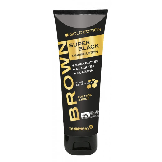 SUPER BLACK Gold Edition Tanning Lotion