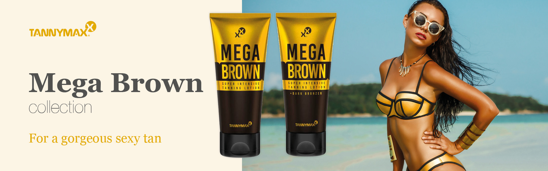 MEGA BROWN Super Intensive TANNING + Dark BRONZER